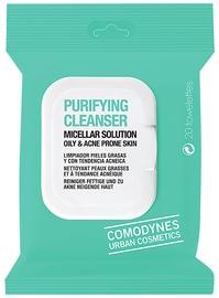 Kosmētikas noņemšanas līdzeklis Comodynes Purifying Cleanser Oily and Acne Prone Skin 20Wipes
