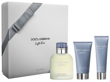 Dolce & Gabbana Light Blue Pour Homme 125ml EDT + 75ml Aftershave Balm + 50ml Shower Gel