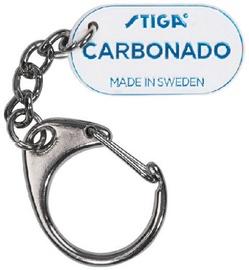 Stiga Metal Key Ring Carbonado White/Blue