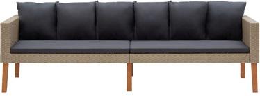Садовый диван VLX 3-Seater Garden Sofa With Cushion 310213, серый/песочный