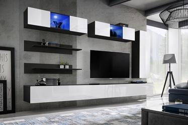 Dzīvojamās istabas mēbeļu komplekts ASM Fly L3 White/Black