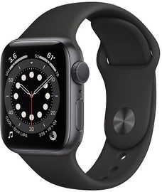 Apple Watch Series 6 GPS 44mm Space Gray Aluminum Black Sport Band
