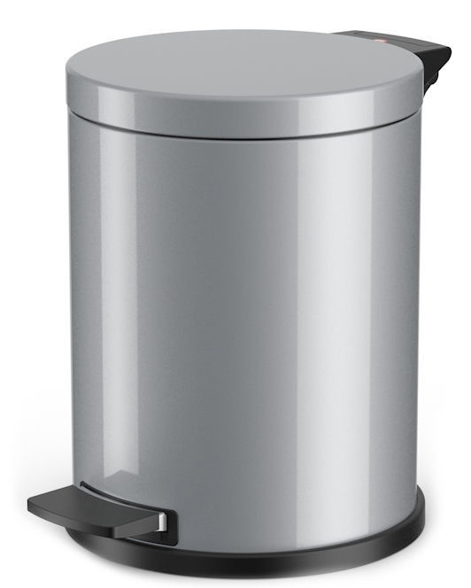 Hailo Solid M Garbage Bin 12l Silver