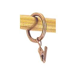 Profi-Styl Curtain Rod Ring With Clip D16.19mm Gold