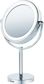 Kosmētiskais spogulis Beurer BS 69 Chrome, ar gaismu, stāvošs, 25.5x39 cm