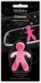 Mr & Mrs Fragrance Cesare Car Air Freshener 1pc Citrus & Musk