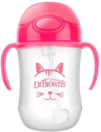 Dr Brown's First Straw Cup 270ml Pink