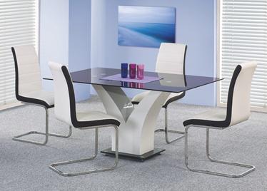 Pusdienu galds Halmar Vesper, balta/melna, 1600x900x760mm