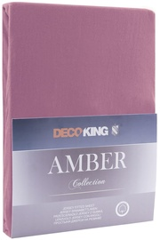 DecoKing Amber Bedsheet 160-180x200 Plum