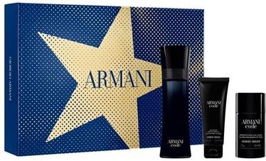 Komplekts vīriešiem Giorgio Armani Black Code 125 ml EDT + 75 ml Shower Gel + 75 ml Deostick