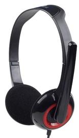 Austiņas Gembird MHS-002 Black/Red