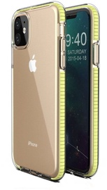 TakeMe Transparent Back Case With Color Frame For Apple iPhone 11 Yellow