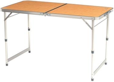 Стол для кемпинга Easy Camp Arzon 540015, коричневый/серый, 120 x 60 x 70 см