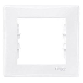 Schneider Electric Sedne Single Way Frame SDN5800121 White