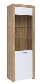 Black Red White Balder Glass Door Cabinet 62x192cm Riviera Oak/White Gloss