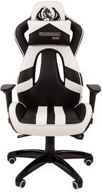 Spēļu krēsls Chairman Game 25, balta/melna