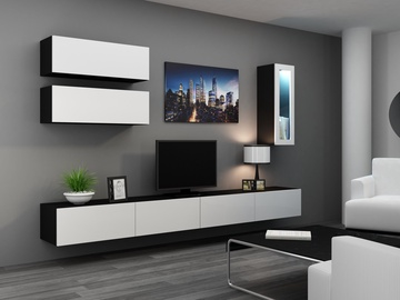 Cama Meble Vigo 90 Full Cabinet Black/White Gloss