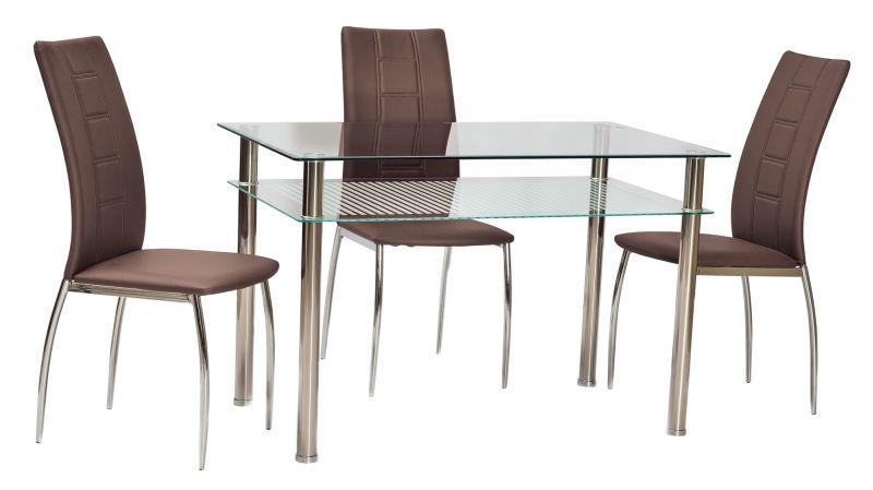 Pusdienu galds Signal Meble Pixel Transparent, 1000x600x760 mm