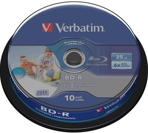 Verbatim BD-R Printable 25GB 6x 10pcs