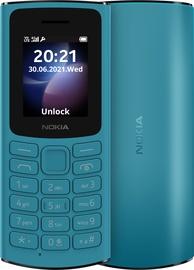 Mobilais telefons Nokia 105 2021 4G, zila, 48MB/128MB