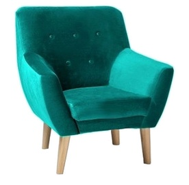 Atzveltnes krēsls Signal Meble Nordic 1 Turqouise, 76x75x90 cm