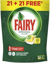 Trauku mazgājamās mašīnas kapsulas Fairy Original, 42 gab.