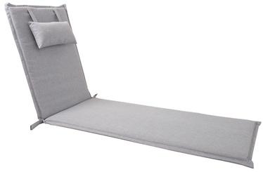 Krēslu spilvens Home4you Wicker, pelēka, 195 x 55 cm