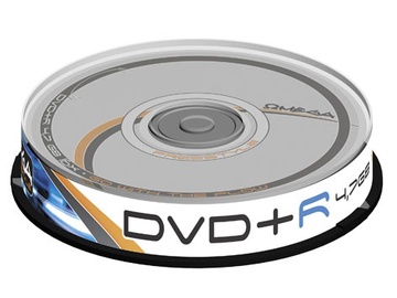 DISKS DVD+R 4,7 GB 16X CAKE 10 FREESTYLE (OMEGA)
