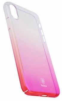 Baseus Glaze Case For Apple iPhone X Transparent/Pink