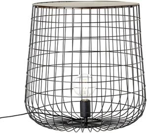 Brilliant Priam Denish Floor Lamp 60W E27 Black/Wood 500mm