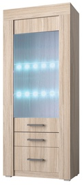 Idzczak Meble Tienen 02 Glass Cabinet 1D Sonoma Oak