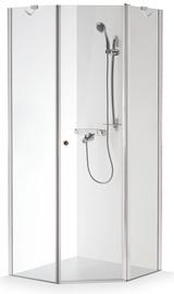 Dušas kabīne Brasta Glass Lina, piecstūraina, bez paliktņa, 900x900x2000 mm