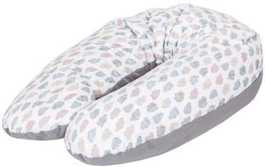 Подушка для кормления Ceba Baby Physio Multi Jersey Clouds, белый/серый
