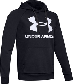 Under Armour Rival Fleece Logo Hoodie 1345628-001 Black XL