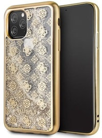 Guess 4G Peony Liquid Glitter Back Case For Apple iPhone 11 Pro Gold