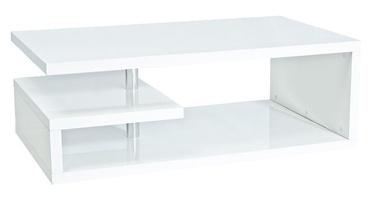 Kafijas galdiņš Signal Meble Tierra Glossy White, 1000x600x420 mm
