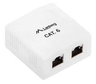 Lanberg FTP Data Box RJ-45 x2 Shielded