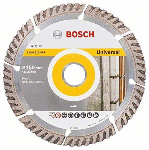 Dimanta disks Bosch 2608615061 Universal Diamond Cutting Disc 150x22.23mm