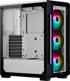 Corsair iCUE 220T RGB Tempered Glass Mid-Tower Smart Case White