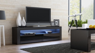 TV galds Pro Meble Milano 157 With Light Black, 1575x350x500 mm