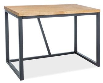 Pusdienu galds Signal Meble Biurko Oak Black, 1100x600x750 mm