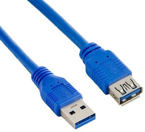 4World Cable USB / USB Blue 0.5m