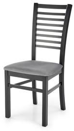 Ēdamistabas krēsls Halmar Gerard 6, melna/pelēka