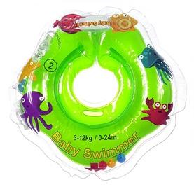 Piepūšams riņķis Baby Swimmer Neck Ring, zaļa