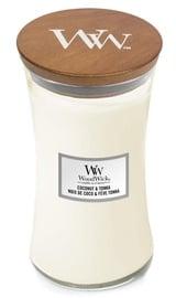 Aromātiskā svece WoodWick Caramel Coconut & Tonka White, 610 g