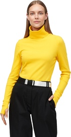 Audimas Cotton Long Sleeve Roll Neck Top Lemon L