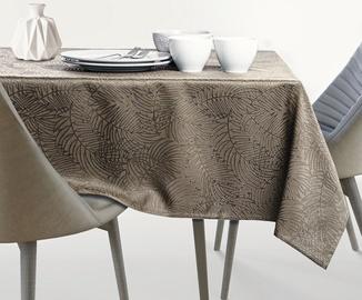 AmeliaHome Gaia AH/HMD Tablecloth Cappuccino 140x160cm