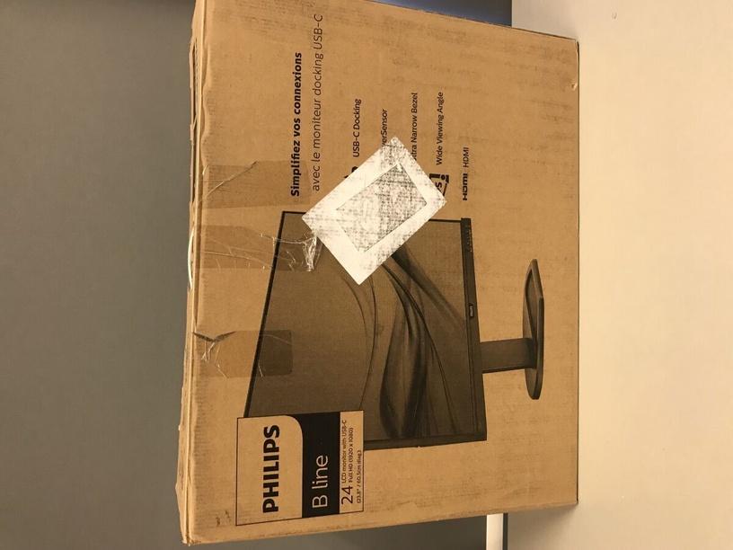 Монитор Philips 243B9, 23.8″, 4 ms (поврежденная упаковка)