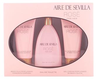 Komplekts sievietēm Instituto Español Aire De Sevilla Rose 150 ml EDT + 150 ml Body Milk + 150 ml Shower Gel