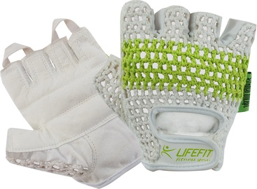 Lifefit Athlete Gloves S White/Green